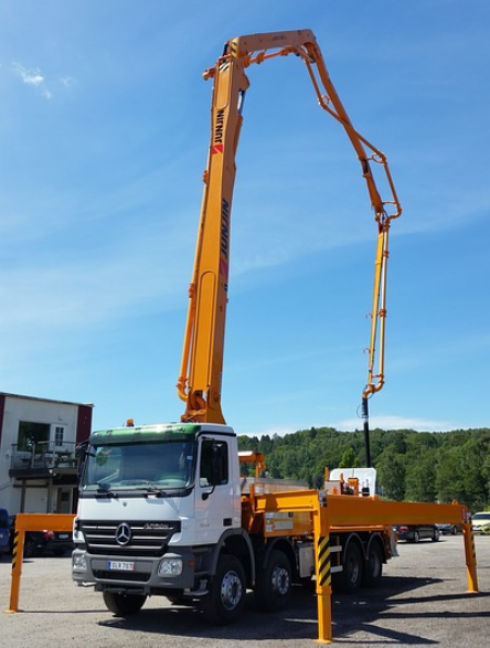 this image shows anytime concrete pumping concrete mixer