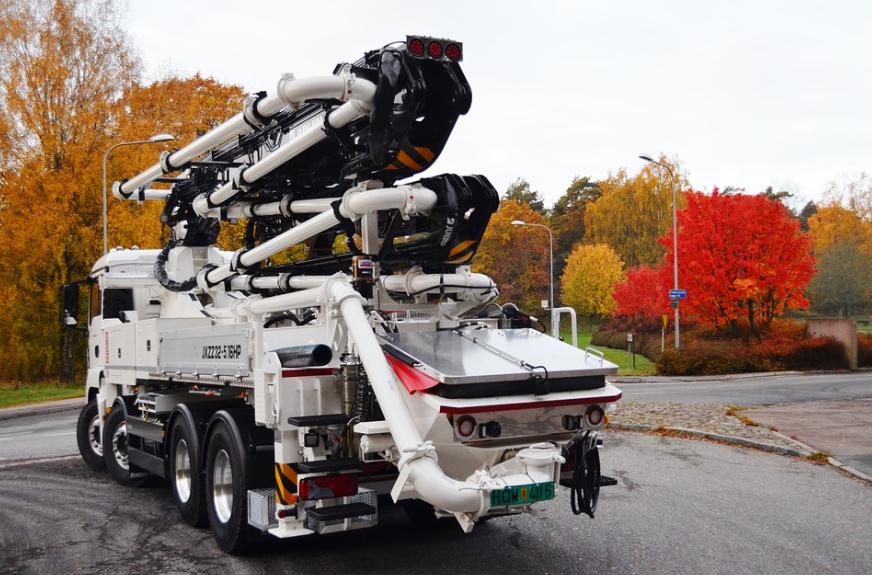 this image shows anytime concrete pumping team